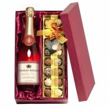 """Any Occasion"" Sparkling Rosé Wine  and Chocolates"