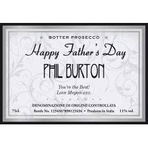 Personalised Prosecco - Father's Day Elegant Label