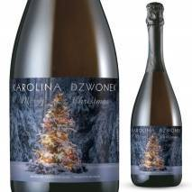 Personalised Prosecco - Tree Lights Christmas Label