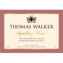 """Personalised """"Cheers"""" Sparkling Rosé Wine & Engraved Flutes"""