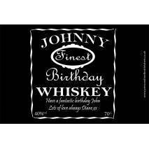 Personalised Black Style Whiskey Bottle Label