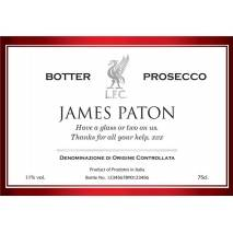 "Personalised ""Happy Birthday"" LIVERPOOL FC Prosecco and Engraved Flutes"