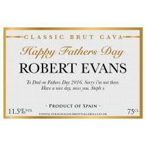 Personalised Fathers Day Cava Label