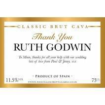 Personalised Thank You Cava Label