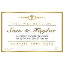 Personalised Wedding Celebration Cava Label