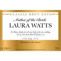Personalised Wedding Title Cava Label