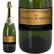 Personalised Champagne - Black & Gold