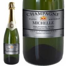 Personalised Birthday Champagne - Silver