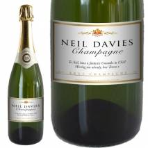 Personalised Champagne - Classic White
