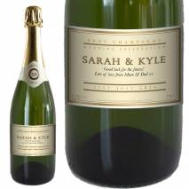 Personalised Wedding Champagne - Cream