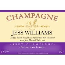 Personalised Easter Champagne Label