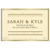 Personalised Wedding Celebration Champagne Label