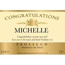 Personalised Congratulations Prosecco Label