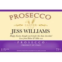 Personalised Easter Prosecco Label