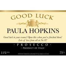 Personalised Good Luck Prosecco Label