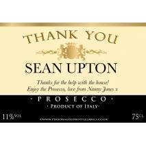 Personalised Thank You Prosecco Label
