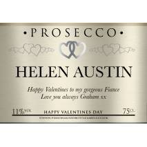 Personalised Valentines Prosecco Label
