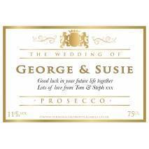 Personalised Wedding Title Prosecco Label