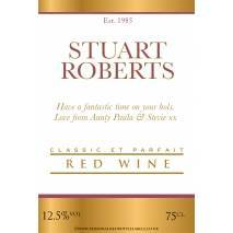 Personalised Classic Gold White Red Wine Label