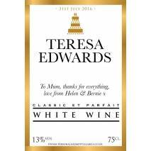 Personalised Wedding White Wine Label