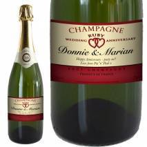 Personalised Ruby Anniversary Champagne