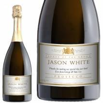 Personalised Wedding Title Prosecco - Traditional White