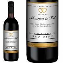Personalised Anniversary Red Wine