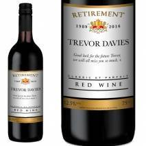 Personalised Retirement Red Wine