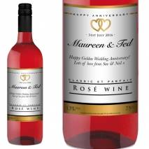 Personalised Anniversary Rosé Wine