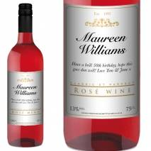 Personalised Rosé Wine - Classic White