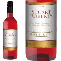 Personalised Rosé Wine - Gold Border