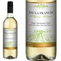 Traditional FREE Next Day Delivery Personalised White Wine - Vineyard
