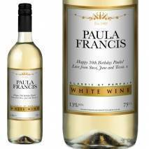 Personalised White Wine - Gold Bottles