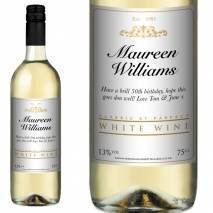 Personalised White Wine - Classic White