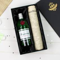 Tanqueray Gin and Original Newspaper Gift Set With Personalised Gift Card