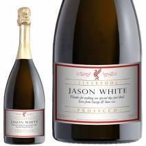 Personalised Liverpool Prosecco - Classic White Label for any occasion