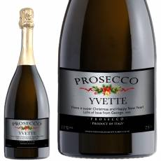Personalised Christmas Prosecco