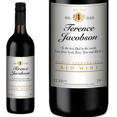 Personalised Fathers Day Red Wine