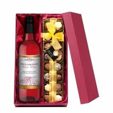Personalised Rosé Wine with Hand Made Truffles