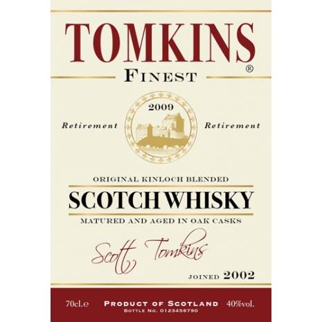 Retirement Gifts - Blended Whisky Label