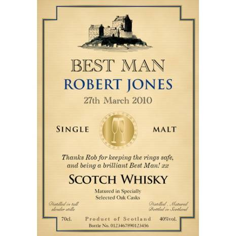 Wedding - Personalised Malt Whisky Label