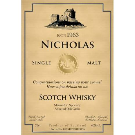 Personalised 'Congratulations' Single Malt & Tumblers