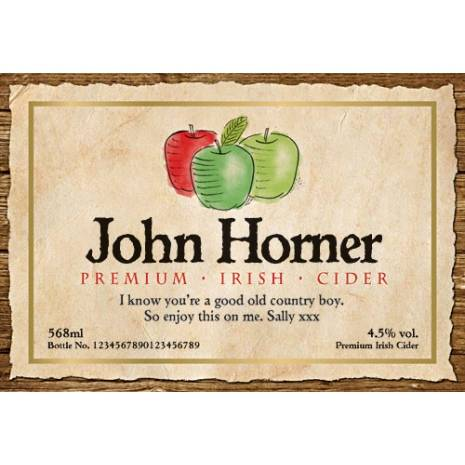Personalised Bottle of Cider with modern label