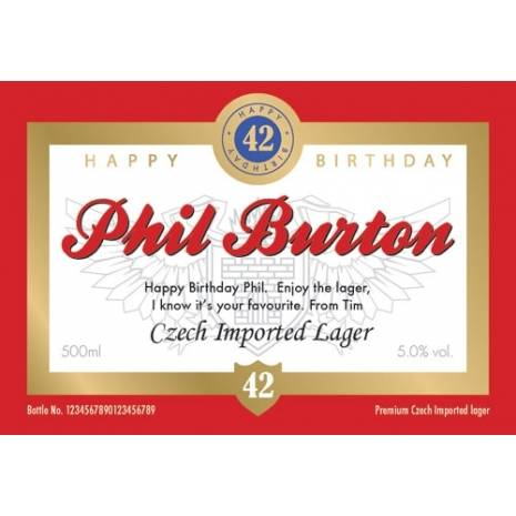 Personalised Birthday Lager