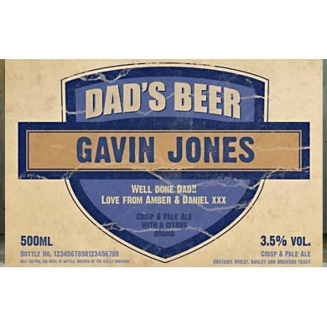 Personalised Dad's Set Three Pack Craft Beer
