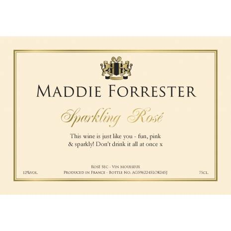 Celebrate Personalised Sparkling Rosé Wine Label
