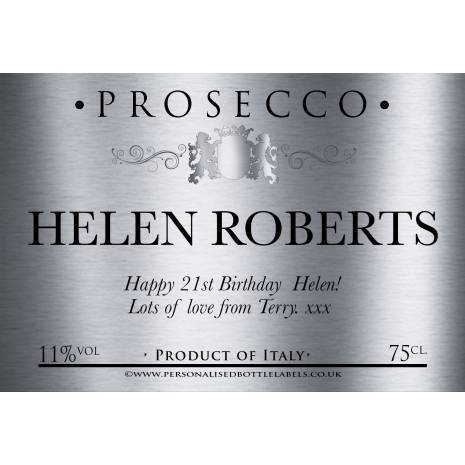 Personalised Prosecco Bottle Label