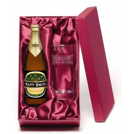 "Personalised ""Congratulations"" Cider Gift Set"