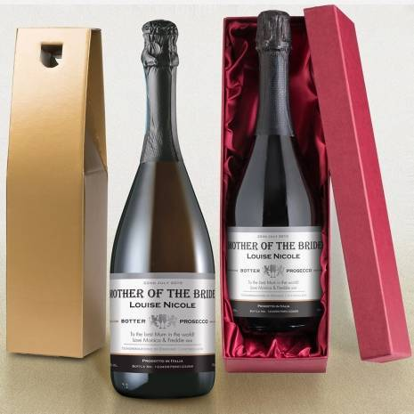Personalised Prosecco - Contemporary Wedding Label