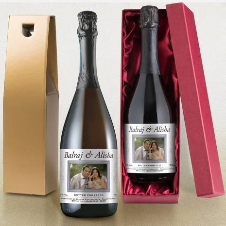 Personalised Prosecco - Framed Photo Upload Label